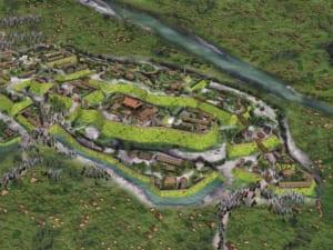 天然の堀・榛名白川と榛名沼を要した箕輪城