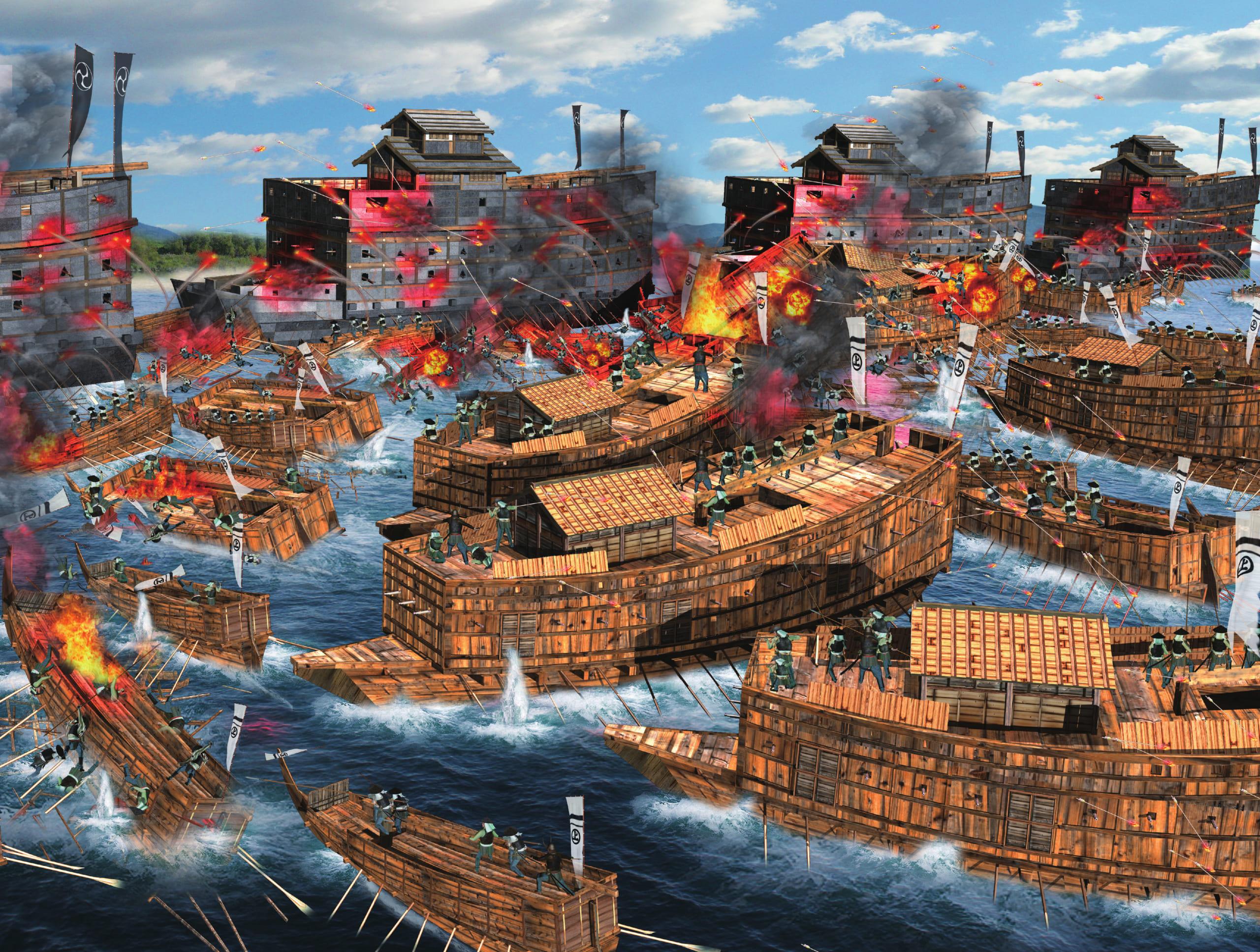 石山本願寺攻め1570〜80年<その4>~新兵器・鉄甲船で毛利水軍を撃破し 補給を絶つ!