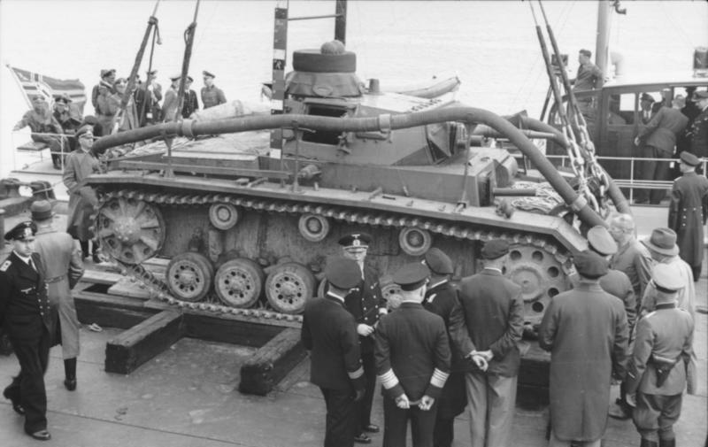 潜水戦車:戦車の水底走行を選択したドイツ