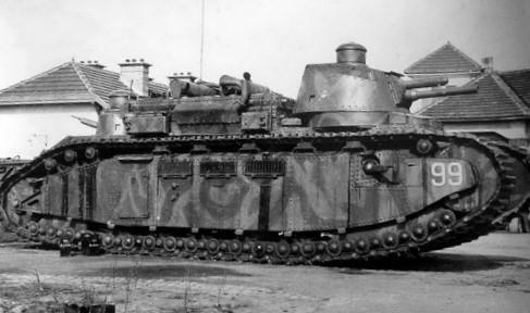 歩兵の支援なしでの塹壕(ざんごう)線突破を目指した「陸の怪物」:シャール2C(フランス)