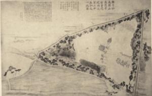 感応寺 江戸時代の書物に描かれた感応寺。 お美代の父が将軍から許可を得て 創建した。国立国会図書館蔵